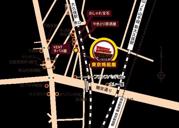 東京媽祖廟所在地圖